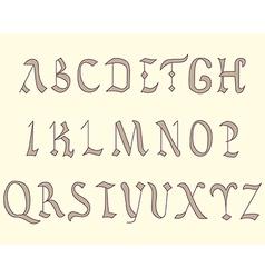 Alphabet vatican eighth century vector
