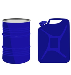 Blue barrel and canister vector