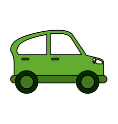 car coupe sideview icon image vector image