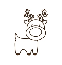 Christmas reindeer character isolated icon vector