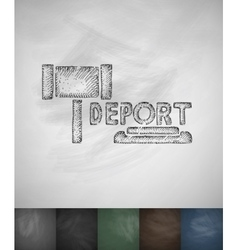 Deport icon hand drawn vector