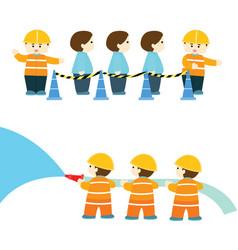 Emergency practice in factory info graphic vector