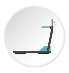 Gym equipment icon circle vector