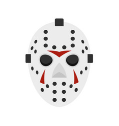 Hockey mask icon flat style vector