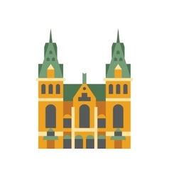 Holandaise city hall building simplified icon vector