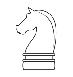 Horse chess piece icon vector