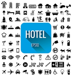 Hotel icon set on white background vector