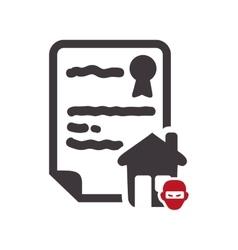 house insurance document design vector image