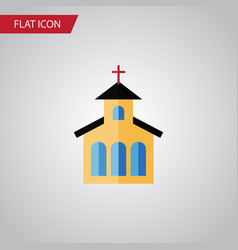 Isolated traditional flat icon catholic vector