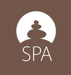 Logo round stones for spa salon vector