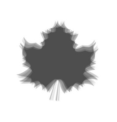 Maple leaf sign gray icon shaked at white vector