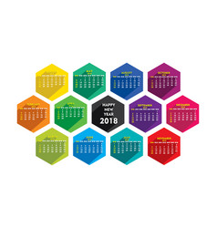 New year 2018 calendar design vector