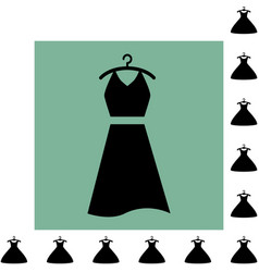 party fashion dress icon or silhouette with vector image