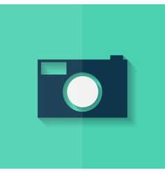 Photo camera icon Photography Flat design vector image vector image