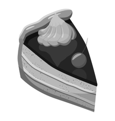 Pumpkin pie icon gray monochrome style vector