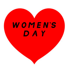 red heart with sharp tip for womens day with vector image