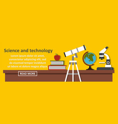 science and technology banner horizontal concept vector image