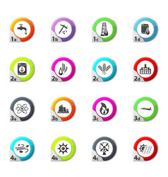 Set of fuel icons set vector
