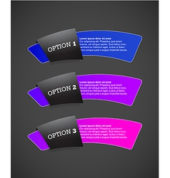 Set of paper labels with place for your own text vector image