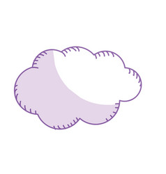 Silhouette natural cloud and cloudy weather vector