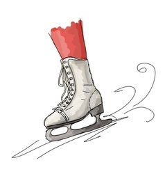 Skates cartoon sketchfor your design vector image