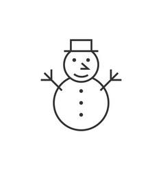 snowman line icon vector image vector image