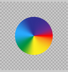 Spectrum Color Wheel On Transparent Background Vector Image
