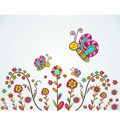 Spring nice flower background vector image vector image