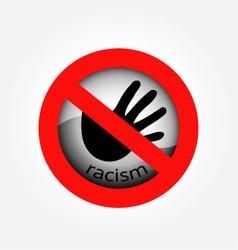 Stop racism vector