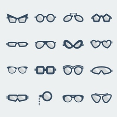 Sunglasses and glasses vector image vector image