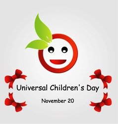 Universal Childrens day- November 20 vector image vector image