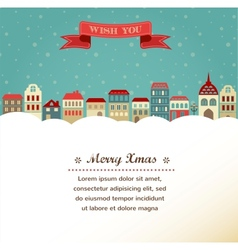 Vintage xmas greeting card and background with vector