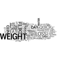 What can a quick weight loss diet do for me text vector