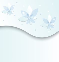 white blue flowers on a light background vector image vector image