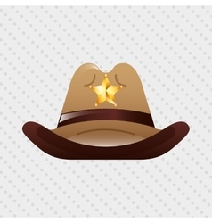 wild west icon design vector image vector image