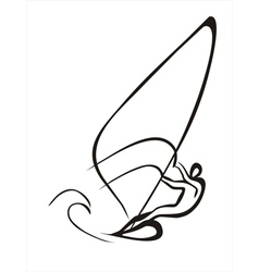windsurfer vector image vector image