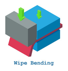 Wipe bending metalwork icon isometric 3d style vector