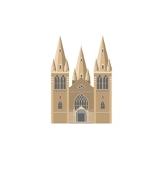 Gothic cathedral flat icon vector