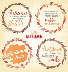 Autumn lettering typography quotes vector