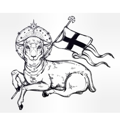 Lamb of God Christian Symbol vector image