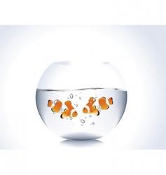 fishbowl vector image