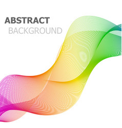 Colorful line wave abstract background vector