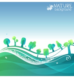 Nature geometric background vector