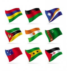set of world flags 13 vector image