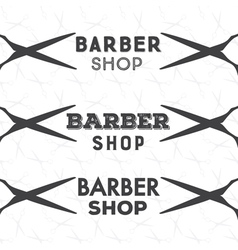 barber shop bage vector image