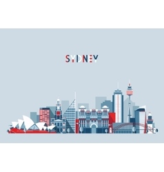 Sydney australia city skyline background vector