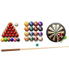 Pub games vector image
