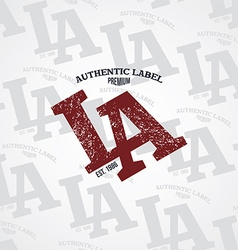 Los angeles varsity theme vector