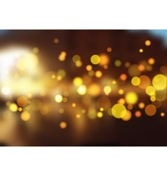 Blurred nature landscape with bokeh lights effect vector