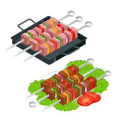 barbecue design elements grill summer food vector image vector image